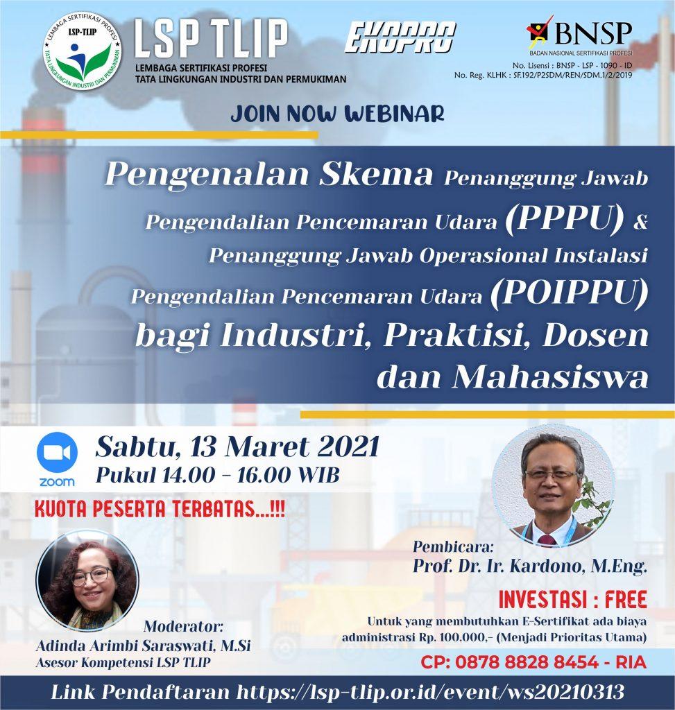 """WORKSHOP LSP TLIP - EKOPRO """"Pengenalan Skema PPPU & POIPPU bagi Industri, Praktisi, Dosen dan Mahasiswa"""